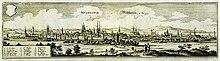 Mühlhausen um 1650 (Kupferstich von Matthäus Merian) (Quelle: Wikimedia)