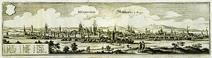 Thomas Müntzer - Panoramic view of Mühlhausen around 1650