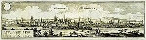 Mühlhausen - Mühlhausen in 1650