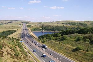 European route E20 - Image: M62 motorway, Calderdale