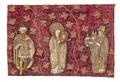 MCC-39371 Fragment rood kussenovertrek met Maria met Kind, keizer Hendrik IV en bisschop Koenraad (1).tif