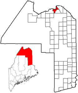 Location of Frenchville, Maine