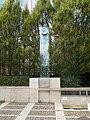 MOM Monument (2001). Chrome steel, limestone, marble and glass modern monument. - Csörsz St., Budapest.JPG