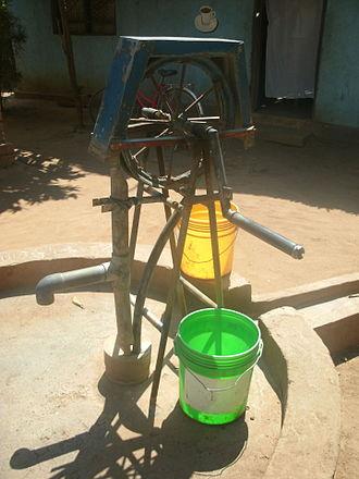 MSABI - MSABI pump at a water point in Ifakara, Tanzania