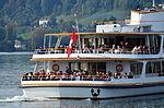 MS 'Helvetia' der Zürichsee-Schifffahrts-Gesellschaft (ZSG) vor Rapperswil, Ansicht vom Seedamm 2012-10-05 15-33-35.JPG