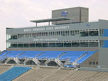 "Pressbox at Johnny ""Red"" Floyd Stadium"