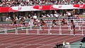 M 110 metres hurdles heat 2 at the 2012 Japan Championships in Athletics 1.jpg