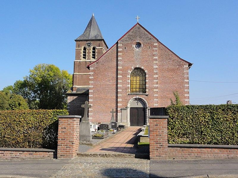 Sint-Eligiuskerk (Church of Saint Eligius) in Maarke. Maarke, Maarke-Kerkem, Maarkedal, East Flanders, Belgium