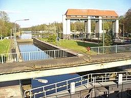 Machnower Schleuse am Teltowkanal (Machnow Lock on Teltow Canal) - geo.hlipp.de - 35367