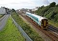 Machynlleth train leaves Tywyn - geograph.org.uk - 1414781.jpg