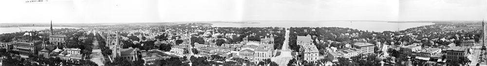 View from Capitol dome taken between 1880 and 1899