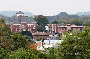 Madisonville, Tennessee - Madisonville, viewed from the Veteran's Monument along US-411