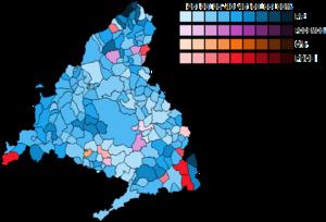 Madrid (Congress of Deputies constituency) - Image: Madrid Municipal Map Congress 2015