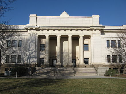 The Maeser Building, built in 1911, houses BYU's Honors Program. MaeserBuilding.JPG