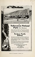 Magazine advertisements for tours to Yellowstone National Park on Northern Pacific Railway (1907) (14757496094).jpg