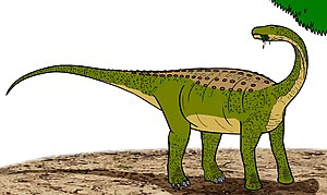 Illustration of the dwarf-sized sauropod dinos...