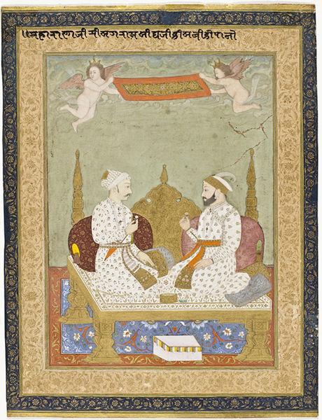 File:Maharana Sangram Singh of Mewar and Maharaja Sawai Jai Singh of Amber, Folio from the Amber Album LACMA M.2001.24.jpg