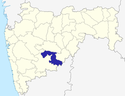 Location of Osmanabad district in Maharashtra