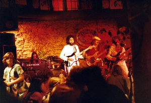 Ajay Mathur's band Mainstreet performing at Atlantis in Basel, Switzerland in 1980