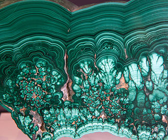 Katanga Province - Another spectacular malachite specimen from Katanga, on display at the Royal Ontario Museum.