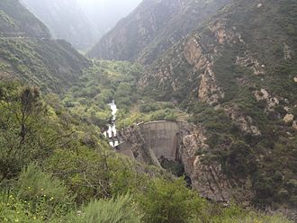 Rindge Dam - Rindge Dam and Malibu Creek, in Malibu Canyon.