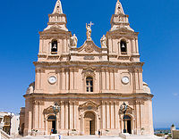 Sanctuary of Our Lady of Mellieħa in Malta.