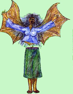 Philippine mythical creatures - A manananggal.