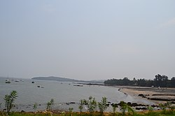 Mandwa beach as seen from the port
