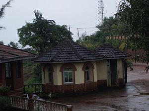 Tulu Nadu - A typical house in Tulu Nadu, with the roof constructed using Mangalore tiles