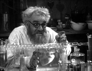 Mad scientist - Horace B. Carpenter as Dr. Meirschultz, a scientist attempting to bring the dead back to life in the 1934 film Maniac.
