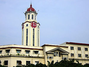 Manila City Hall - The clock tower of the Manila City Hall