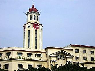 Manila City Hall - The clock tower of the Manila City Hall