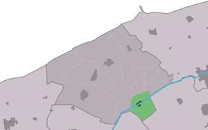 Burdaard - Image: Map NL Ferwerderadiel Burdaard