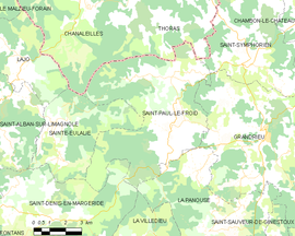 Mapa obce Saint-Paul-le-Froid