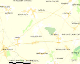 Mapa obce Coulonvillers