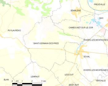 Saint germain des pr s tarn wikipedia for St germain des pres code postal