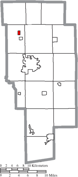 Location of Savannah in Ashland County
