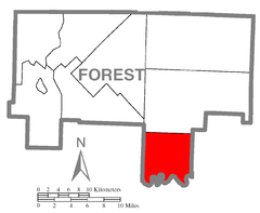 Map of Barnett Township, Forest County, Pennsylvania Highlighted.png
