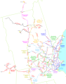 Map of Boston and Maine Railroad lines and divisions in 1923.png