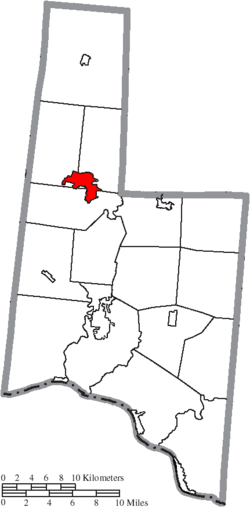 Location of Mount Orab in Brown County