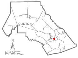 Location within Clinton County