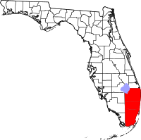 Map of the South Florida,Miami metropolitan area