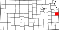 Map of Kansas highlighting Miami County.svg