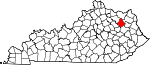 State map highlighting Rowan County