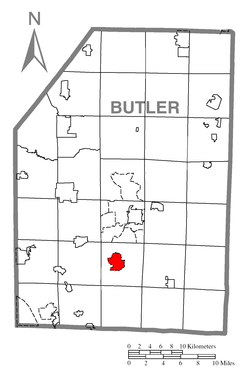 Location within Butler County