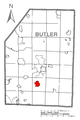 Map of Nixon, Butler County, Pennsylvania Highlighted.png