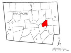 Map of Standing Stone Township, Bradford County, Pennsylvania Highlighted.png