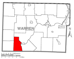 Map of Triumph Township, Warren County, Pennsylvania Highlighted.png