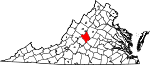 State map highlighting Nelson County