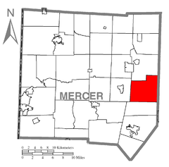 Map of Worth Township, Mercer County, Pennsylvania Highlighted.png